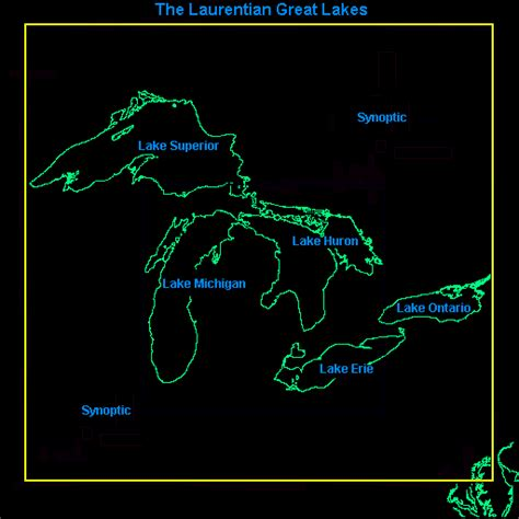 lakes in map coastwatch great lakes map