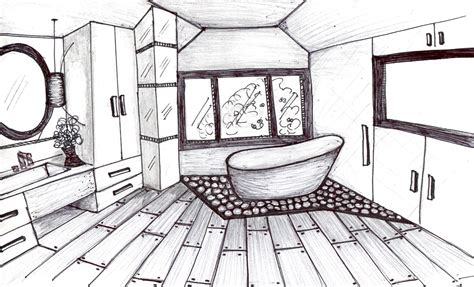 bathroom drawings interior architectural designs sketches