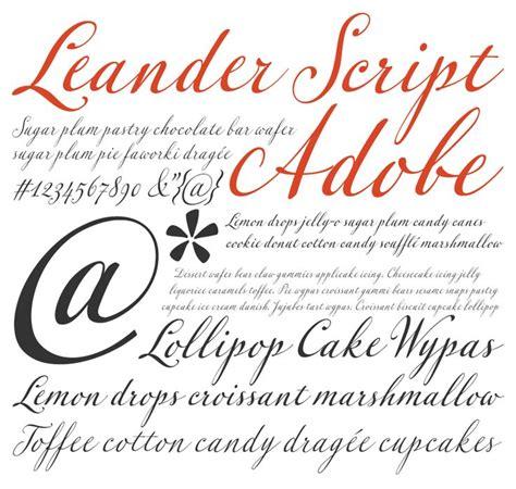 font design adobe leander script pro typeface from adobe http app webink
