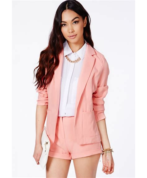 Baby Pink Blazer Termurah 1 missguided premium blazer in baby pink in pink lyst