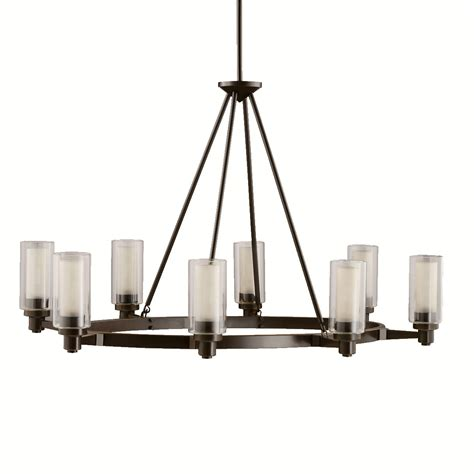 Oval Chandeliers Kichler 2345oz Circolo Eight Light Oval Chandelier