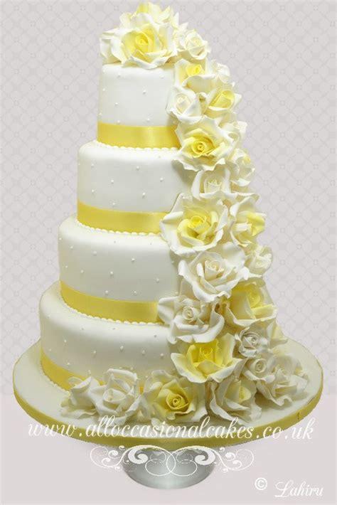 Wedding Cake Yellow Roses by Bristol Wedding Cakes Bath Wedding Cakes Yate Wedding