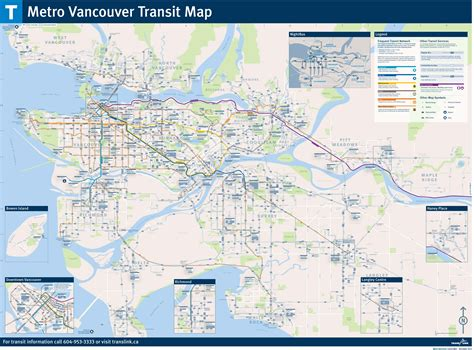 Address Lookup Vancouver Map Of Metro Vancouver Skytrain Mapa Metro