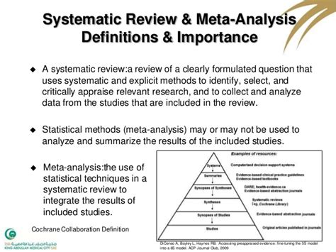 Meta Analysis Vs Review Of Literature by Systematic Review Meta Analysis Course Summary Slides