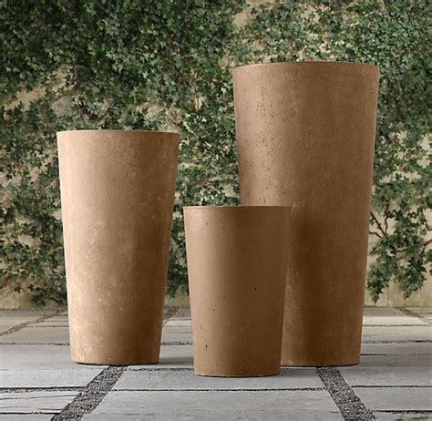 Weathered Cast Planters by Cast Planters And Stones On