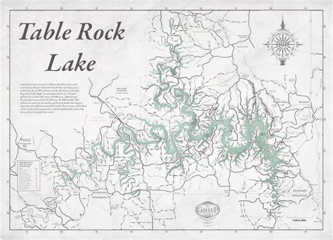 table rock lake map decorator gray with antique green