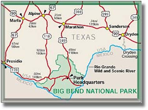 marathon texas map big bend national park climate map geography desertusa