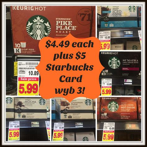 Kroger Gift Cards For Sale - starbucks k cups only 4 49 at kroger plus 5 gift card offer kroger krazy