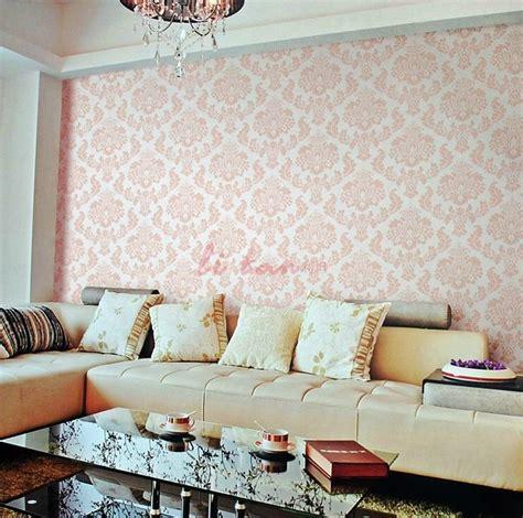 fleur de lis living room decor pink white fleur de lis wallpaper living room interior design ideas