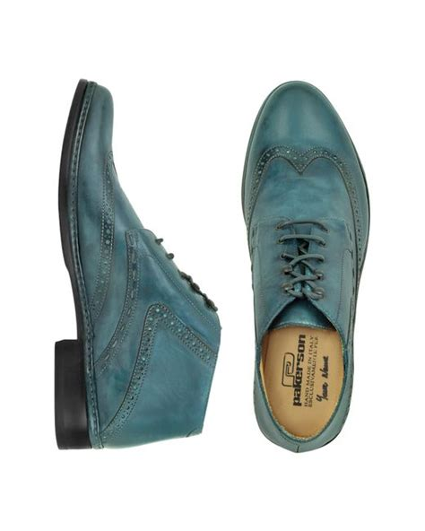 Handmade Italian Leather Boots - pakerson petrol blue handmade italian leather wingtip