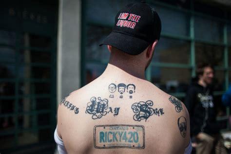 trailer park boys tattoo trailer park boys launch freedom 35 as hundreds wait