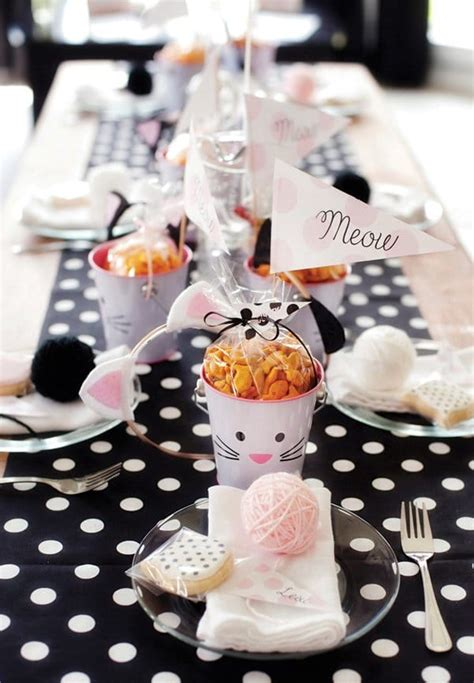 themes for the kitty party 30 cute cat birthday party ideas pretty my party