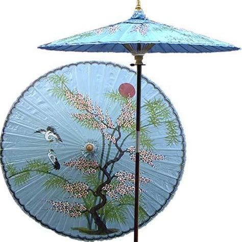 asian patio umbrella asian splendor andaman blue asian outdoor umbrellas by decor