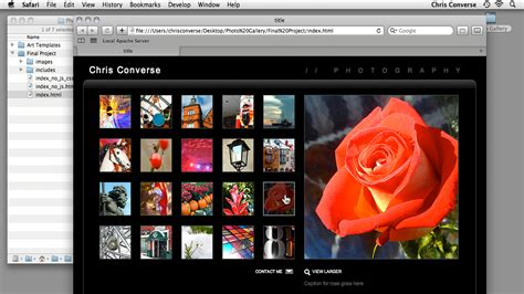 dreamweaver tutorial gallery create an interactive photo gallery with jquery and