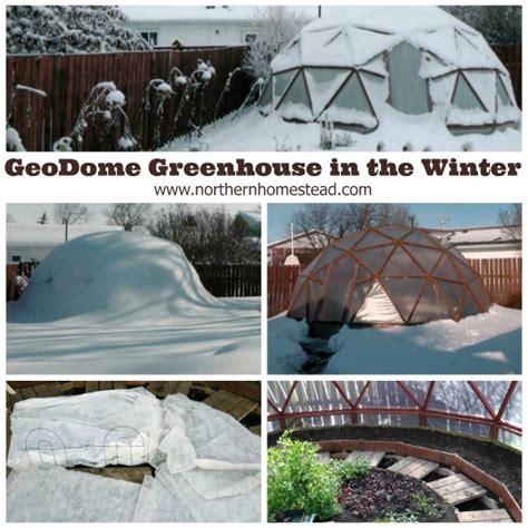 backyard greenhouse winter geodome greenhouse in the winter northern homestead