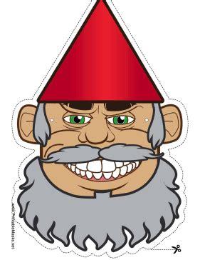 printable beard mask printable gnome with beard mask mask
