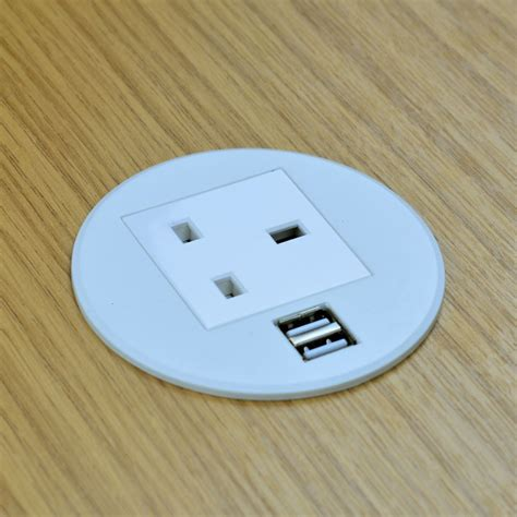 desk grommet usb charger gs80p in desk power grommet with dual usb charger white