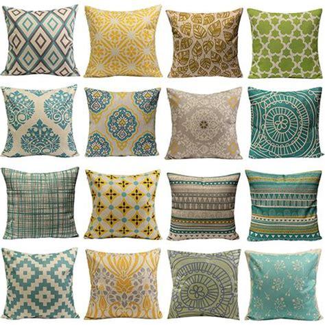 hot sale vintage geometric flower cotton linen throw