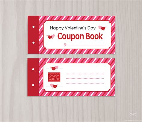 blank printable valentine s day coupon book love coupons