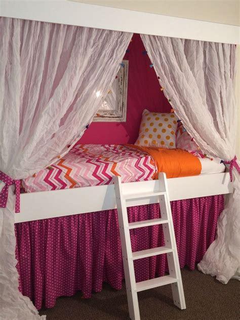 girl loft beds  hideouts google search loft bed