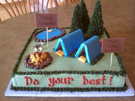 simply sweet cub scout cing cake