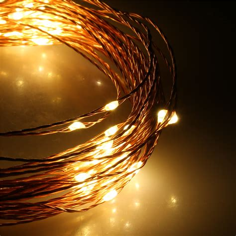 string of lights indoor excelvan 10m 100 led copper string lights warm white decorative indoor us