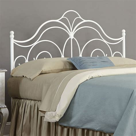 wire headboard rhapsody metal headboard glossy white in beds and headboards
