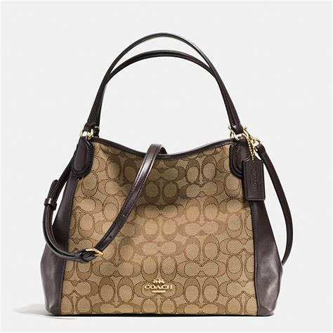 Bag By Coach by Coach Designer Purses Edie Shoulder Bag 28 In Signature Jacquard
