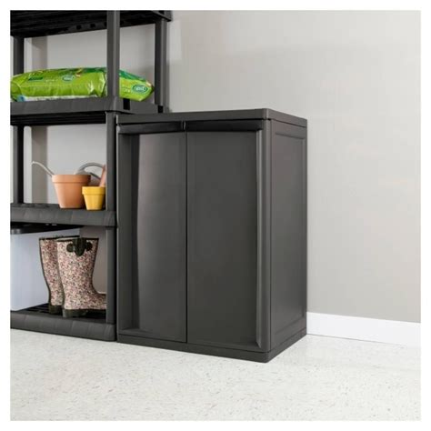 Sterilite Storage Cabinets by Sterilite 2 Shelf Storage Cabinet Storage Designs