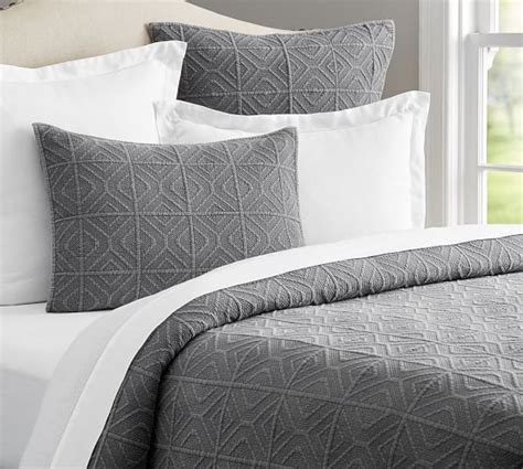 diamond coverlet diamond stonewashed coverlet sham pottery barn