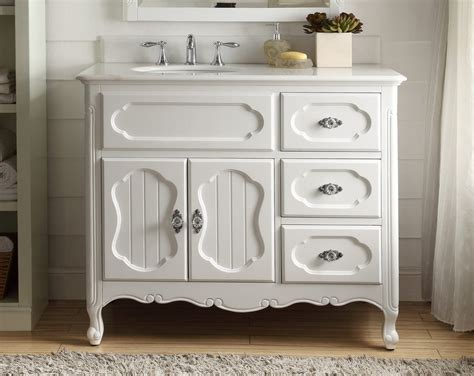 Cottage Style Bathroom Vanities 42 Benton Collection Cottage Style White Knoxville Bathroom Chans Furniture