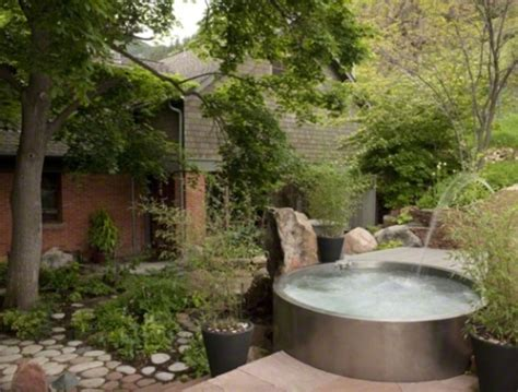 backyard spas 48 awesome garden hot tub designs digsdigs