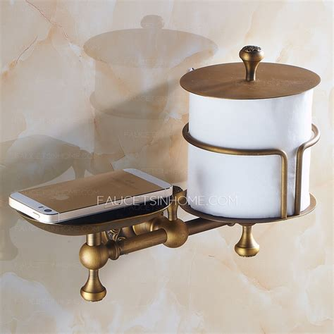Soap Paper 1 Roll antique brass toilet paper roll holder with soap dish