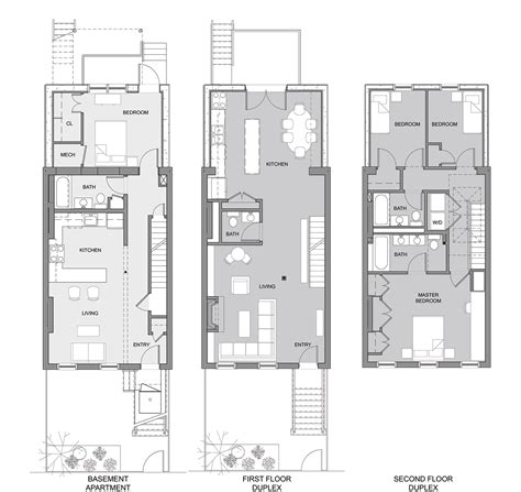 house floor plans designs brownstone row house floor plans
