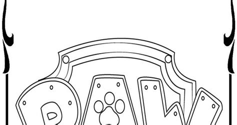 Paw Patrol Badges Coloring Pages Realistic Coloring Pages Paw Patrol Logo Template