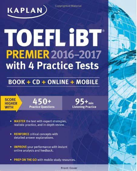 kaplan test kaplan toefl ibt premier 2016 2017 with 4 practice tests