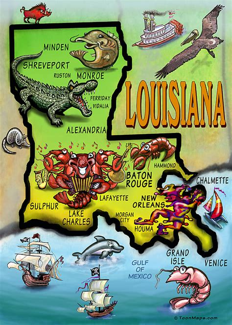louisiana map cards louisiana map greeting card for sale by kevin