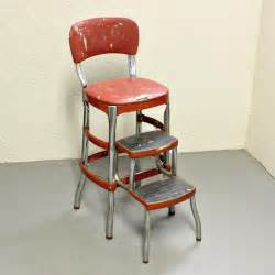 Vintage stool step stool kitchen stool cosco chair