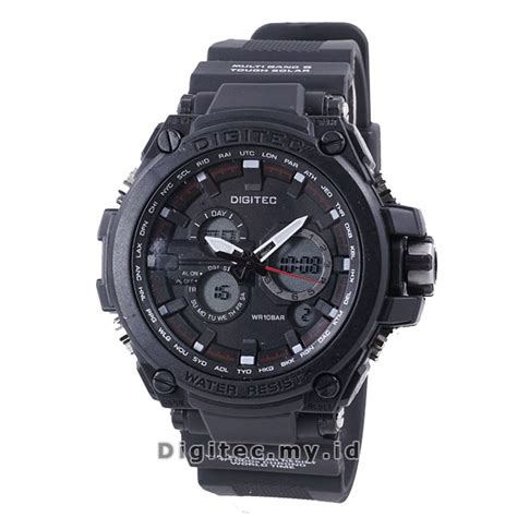 Jam Tangan Wanita Digitec Black Dualtime Analog Digital Original digitec dg 2069t black jam tangan sport anti air murah