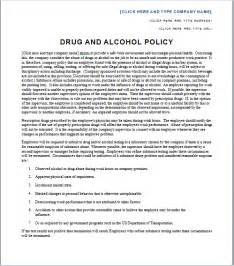 drug free workplace policy template template design