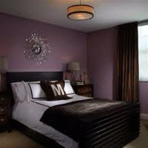 purple bedroom wall color with silver chrome accents