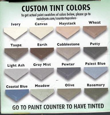 rust oleum countertop coating color chart shapeyourminds