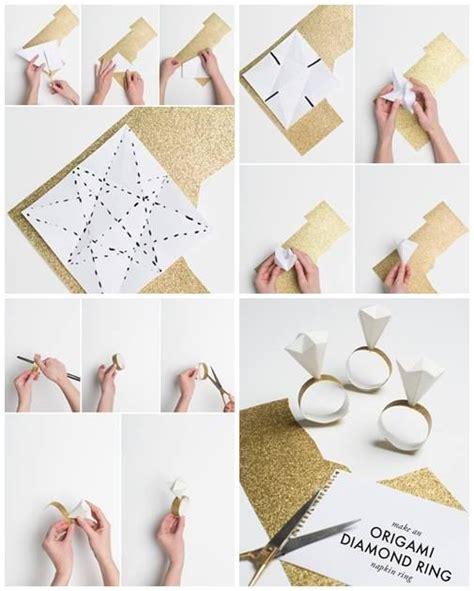 Origami For Napkins - origami napkin ring for the home