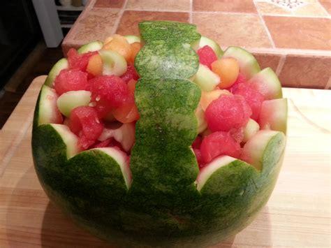 diy watermelon basket evavillain