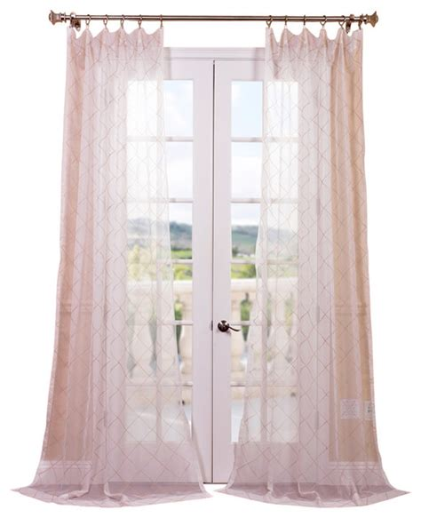 sheer taupe curtains vita taupe gold embroidered sheer curtain contemporary