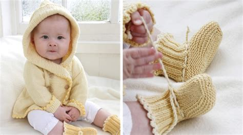 baby knitted hooded jacket free patterns buttercup knitted hooded baby jacket and booties free