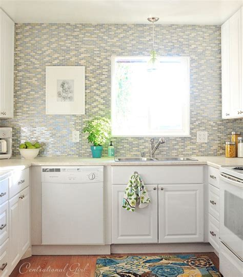 kitchen window backsplash tiling around a window centsational