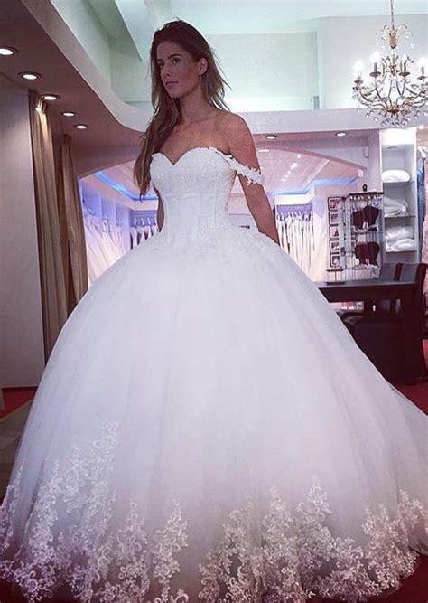Kleider Hochzeit by Prinzessin Wei 223 Brautkleider Mit Spitze Schulterfrei T 252 Ll
