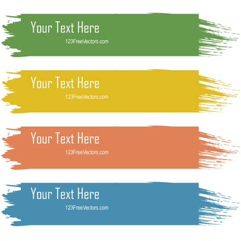 arrow color text box png image and clipart retro grunge colorful text banners vector free