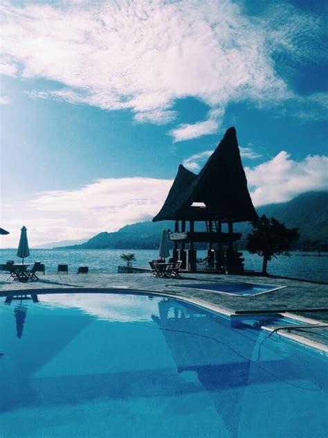 Morning Danau Toba thian on lake toba lakes and indonesia